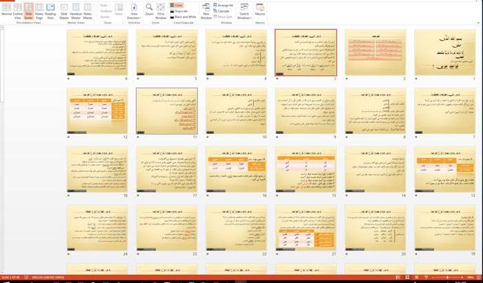 اسلاید در مورد قواعد عربی 2
